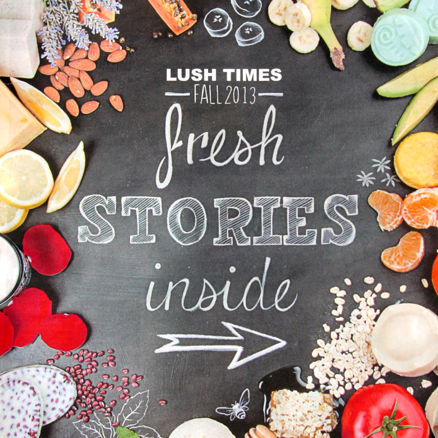 Lush Cosmetics Catalog Cover Typography