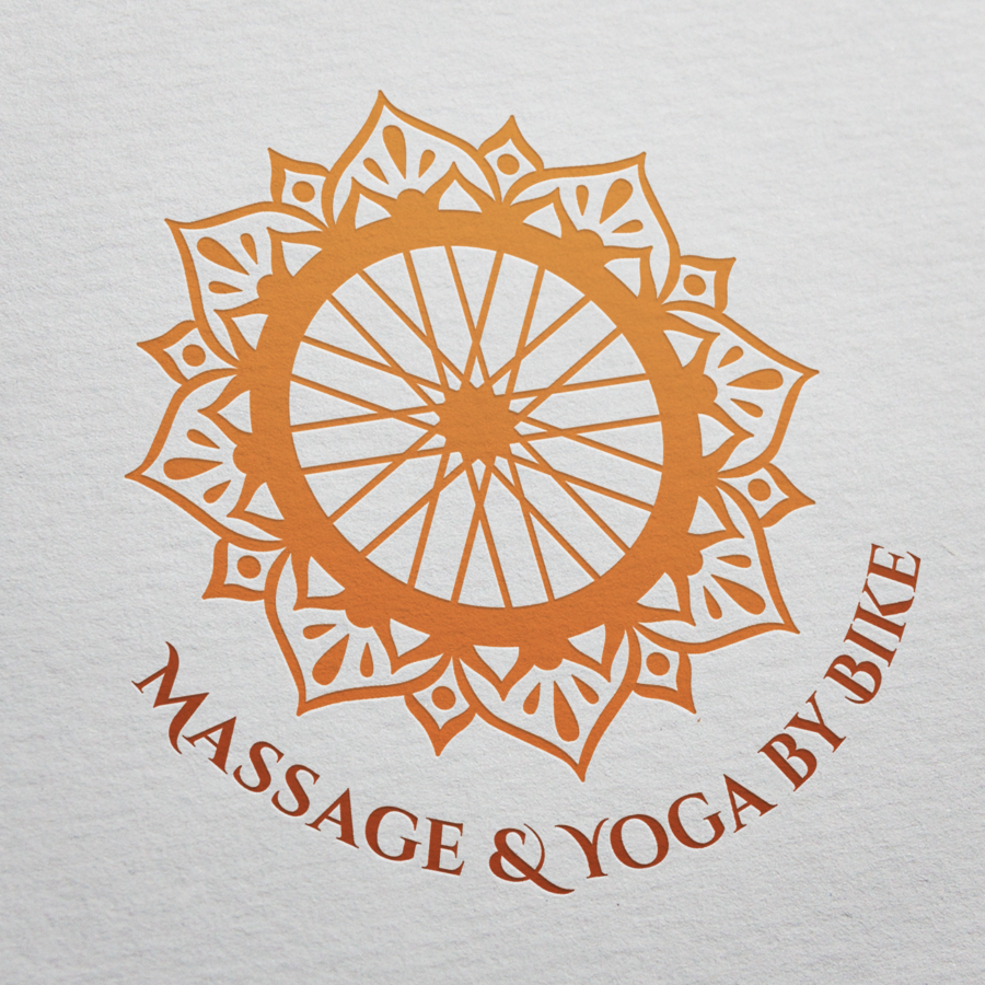 Massage & Yoga by Bike Logo Mock Up
